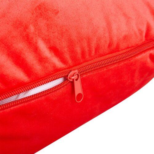 Kroppskudde i röd velour Eleonora
