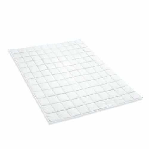Tyngdtäcke 10 kg Vit Bomullssatin – Fritt från polyester