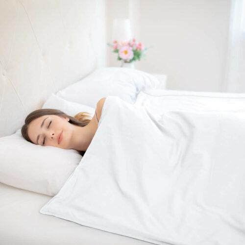 Tyngdtäcke 5 kg Grå Bomullssatin – Fritt från polyester