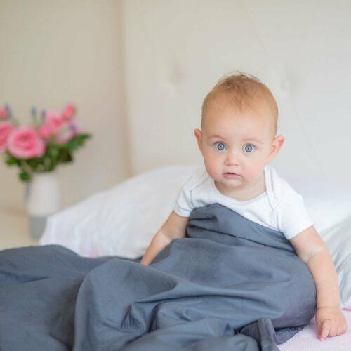 Svalt Tyngdtäcke för Barn 2,6 kg Grå Bambu – Fritt från polyester