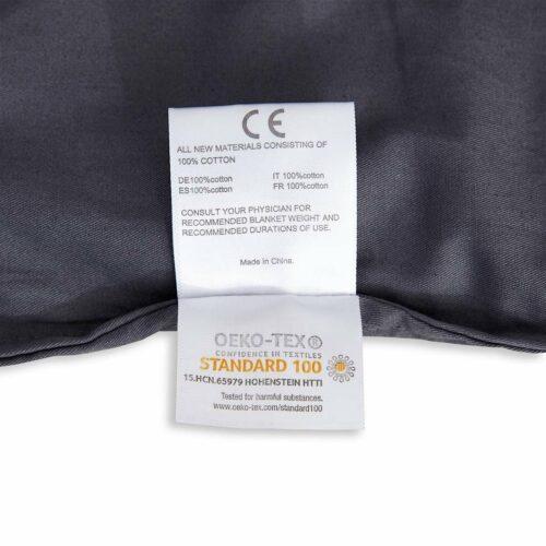 Tyngdtäcke 2,6 kg Grå Bomullssatin – Fritt från polyester