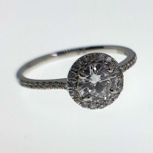 Ring 18k Vitguld med Diamanter 0,82 ct Elvira