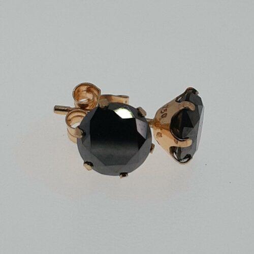 Beckasin Örhängen Guld 18K med briljantslipade Svarta Diamanter 2 ct.