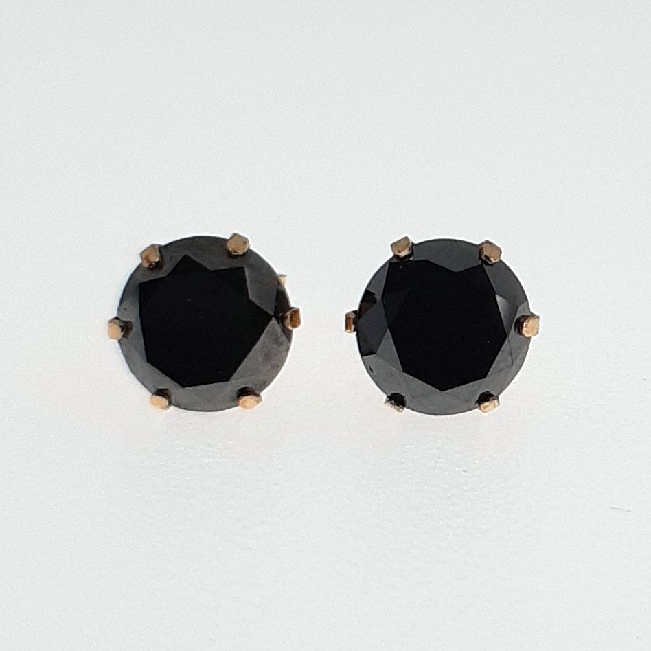 örhängen svarta diamanter