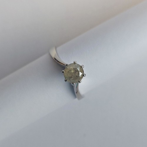 Vintage Ring 18K Vitguld med Diamant 0,7 ct