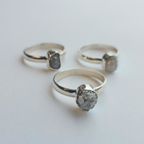 Ring Silver med Naturlig Rådiamant 2,5 ct.