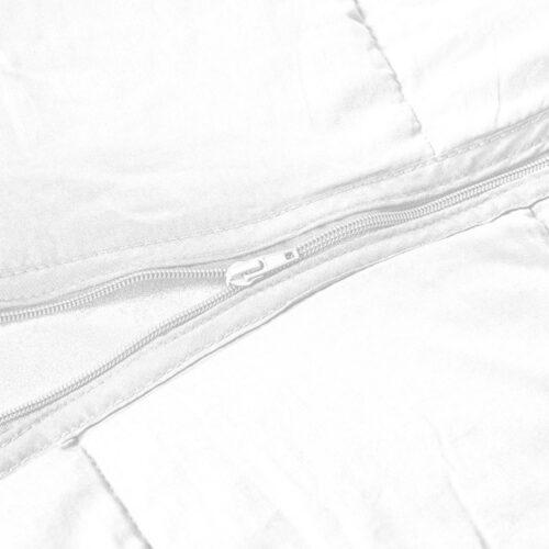 Delbart Tyngdtäcke Vit/Grå Bambu (2:a sortering)